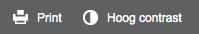 hoog contrast knop