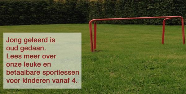 Dezelfde foto als in vorig voorbeeld. Rode tekst heeft nu wel voldoende contrast met achtergrond doordat er een wit blok achter de tekst staat.
